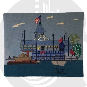 Vintage Needlepoint Newport Beach Balboa Picture